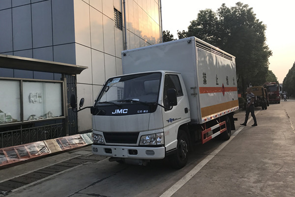 江铃蓝牌易燃气体运输车