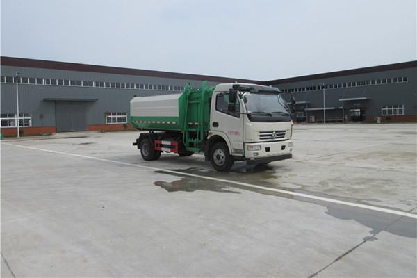 东风多利卡挂桶式垃圾车